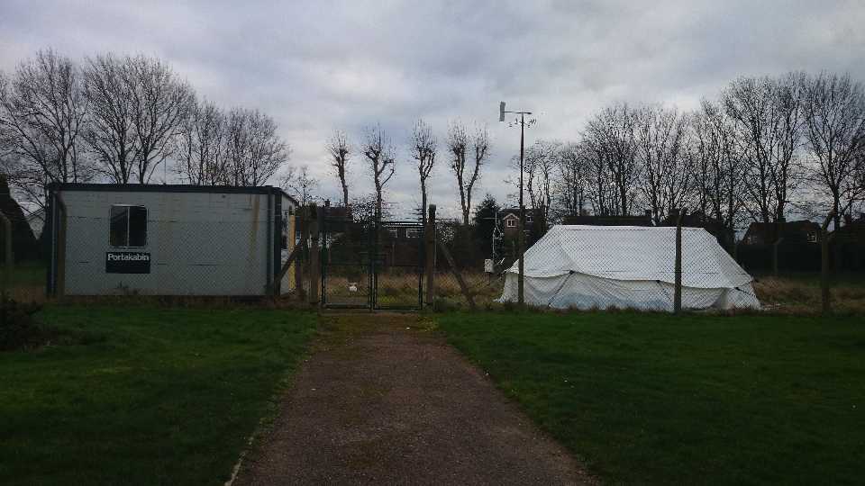 the weather station on Loughborough University campus