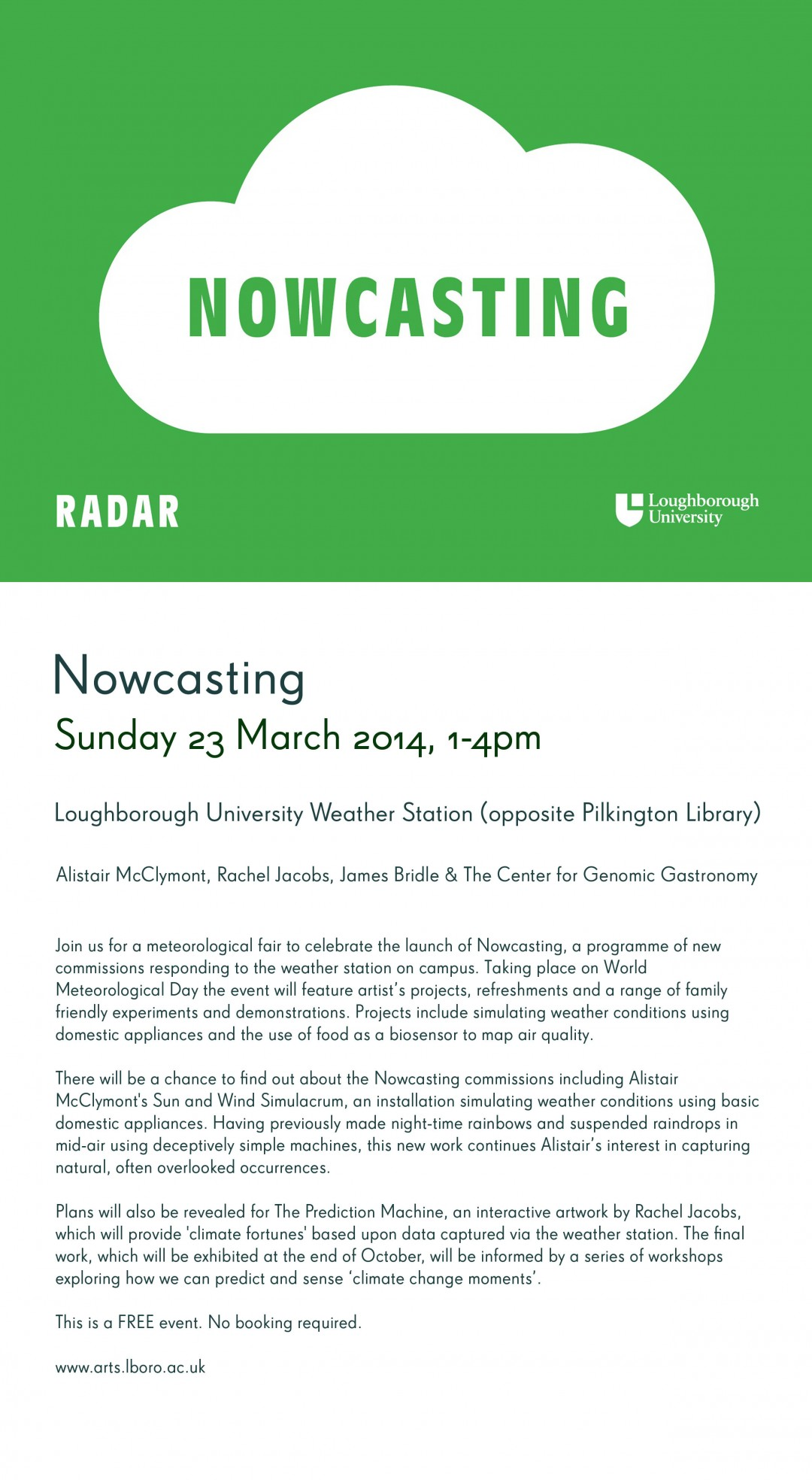 Nowcasting Launch - Sunday 23rd March