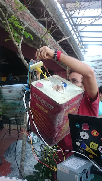 Building a music box that responds to live wind data from Ubatuba's beach